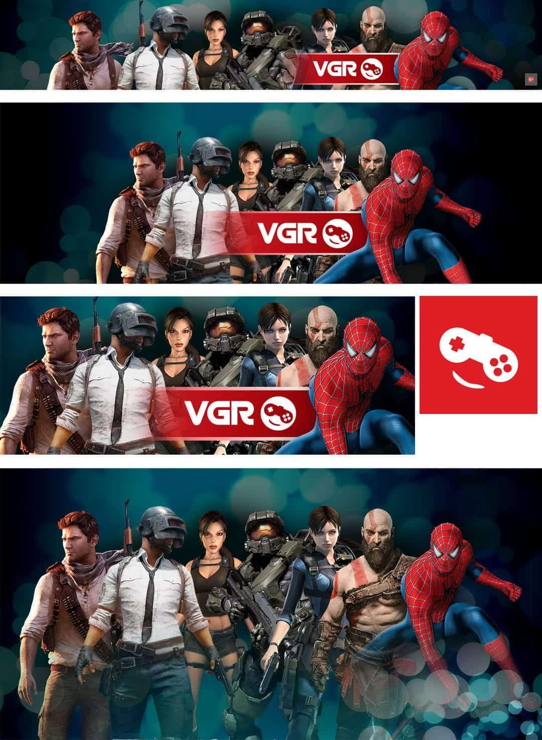 עיצוב חבילת מדיה חברתית לאתר משחקים