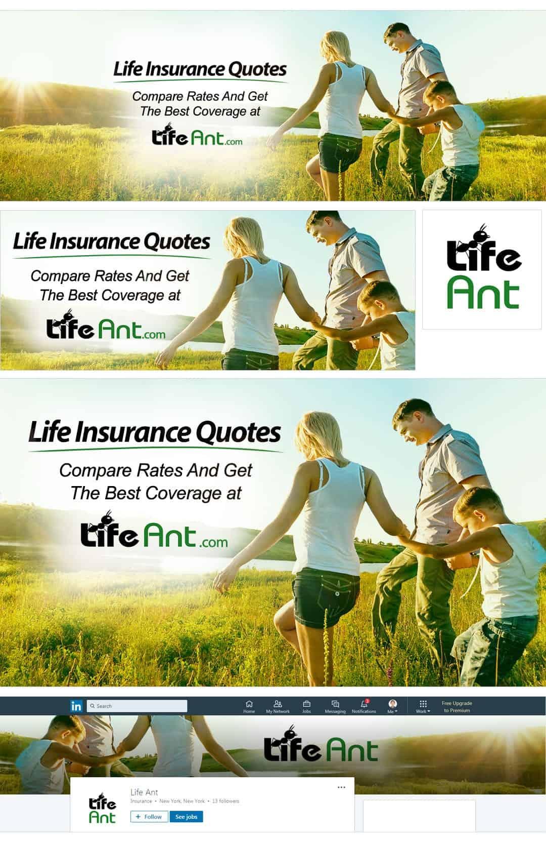 חבילת מדיה חברתית לחברת ביטוח חיים